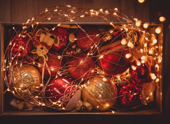photo-of-christmans-lights-and-bauble-balls-in-a-box
